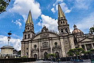 Vue de la cathédrale de Guadalajara