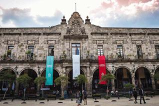 View of the Municipal Palace of Guadalajara