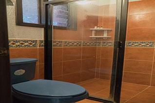 Baño con ducha, dentro de una habitación