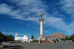 Vista de la plaza Hidalgo en Chihuahua