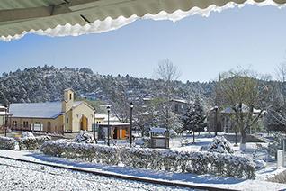 Nieve en Creel en epoca de invierno