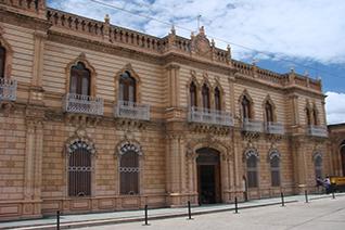 Vista del edificio del Palacio Alvarado