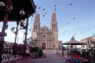 Vista de la fachada de la catedral de Chihuahua