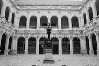 Vista interior del palacio de gobierno de Chihuahua