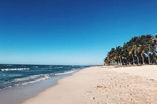 Vista panorámica de playa tortugas