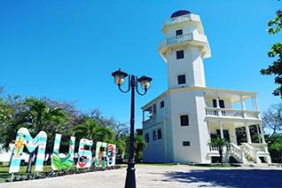 Faro de isla Aguada en Campeche