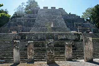 Calakmul deux monticules adjacents