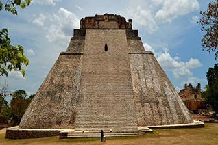 Zona arqueológica de Uxmal en Campeche