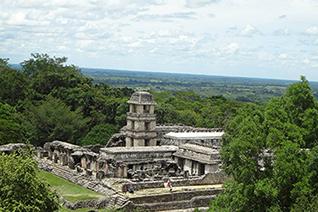 Vista panorámica de Palenque en Chiapas
