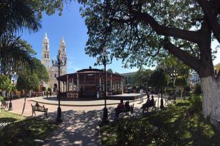 Plaza indepencia en Campeche