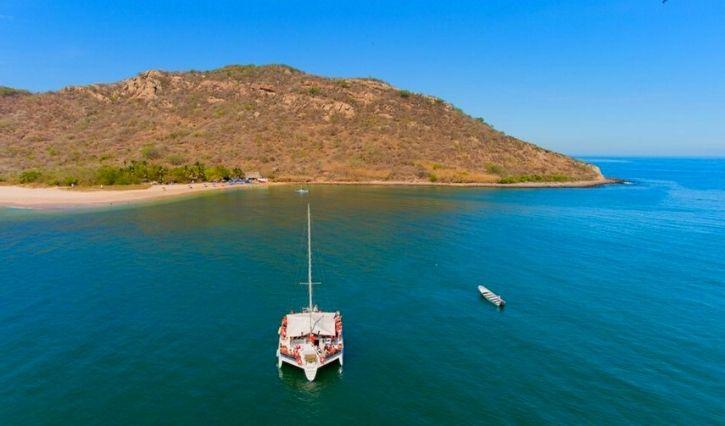 Vista panorámica por isla de Venados