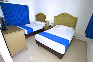 Habitaciones limpias con 2 camas